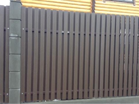 Набережные Челны, деревня Малая Шильна, модульный забор из композитного штакетника в шахматку